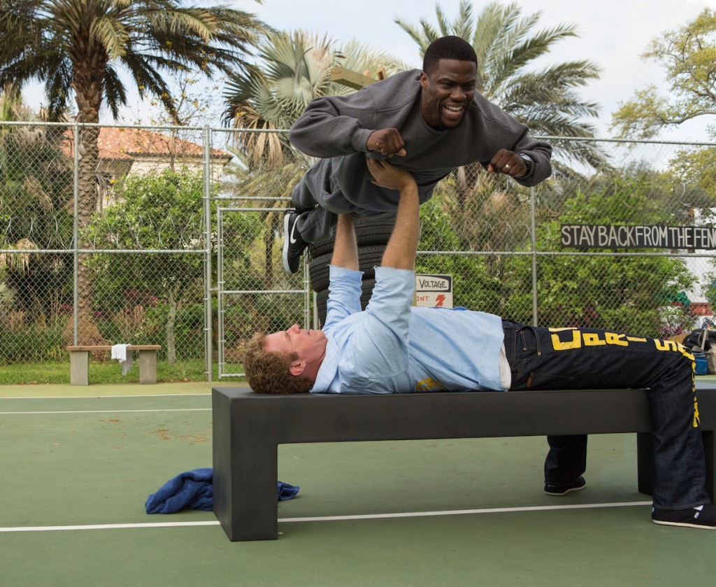 "Photo Credit: Patti Perret. KEVIN HART (top) as Darnell and WILL FERRELL as James in Warner Bros. Pictures' comedy ""GET HARD,"" a Warner Bros. Pictures release."