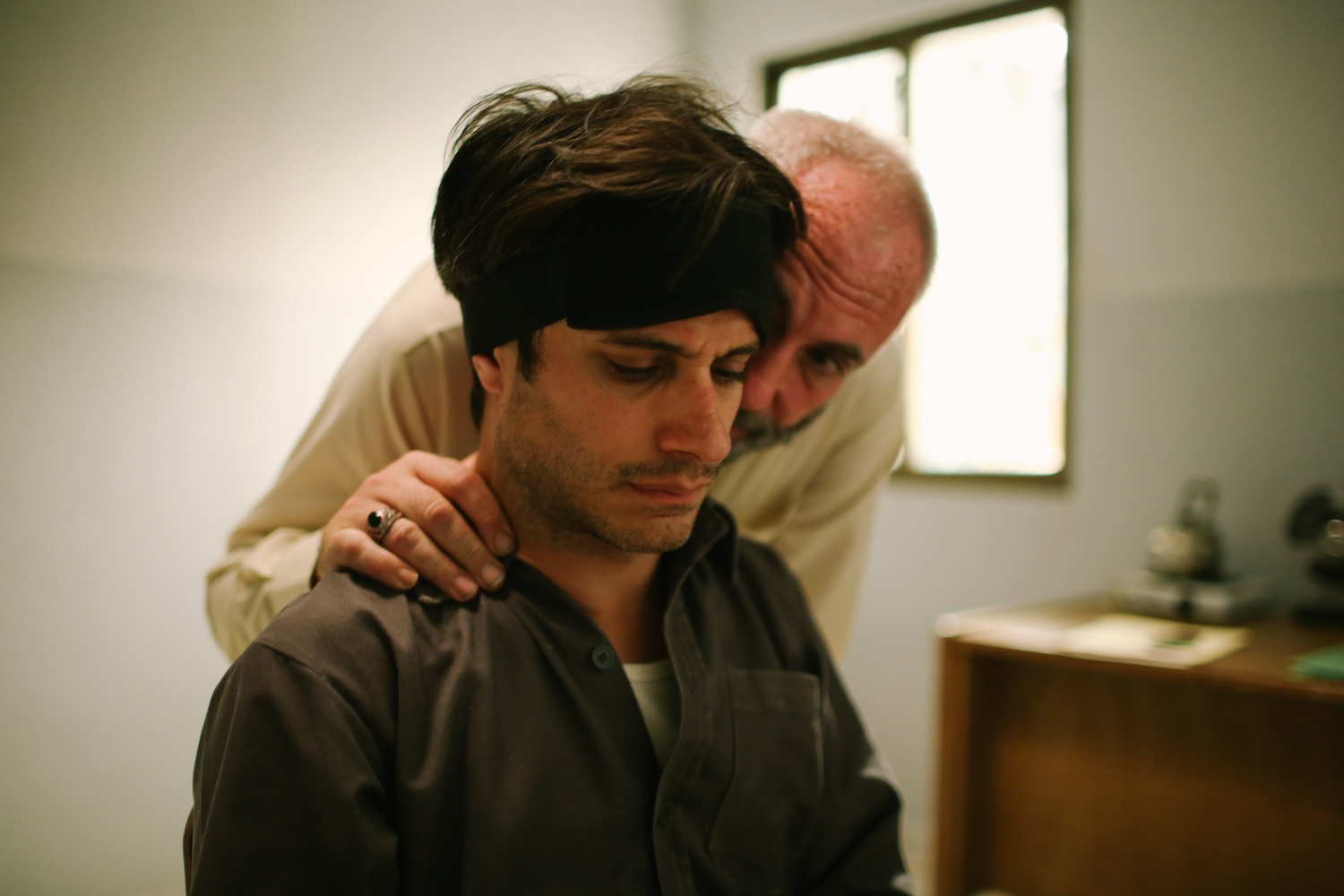 Gael Garcia Bernal and Kim Bodnia in Rosewater