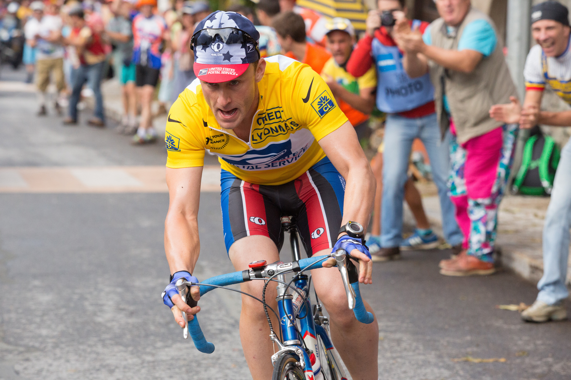 Ben Foster plays Lance Armstrong in The Program, directed by Stephen Frears.