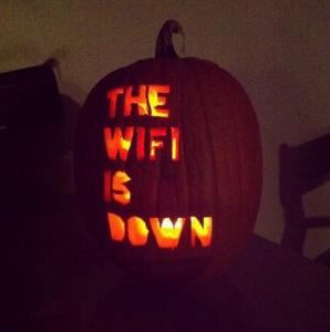 A distinctly unspooky but still pretty scary pumpkin. Thanks, internet.