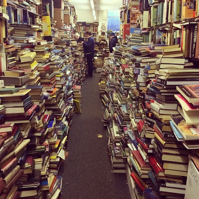 TBT – 1 year ago, a chilly day's book shopping at Voltaire & Rosseau